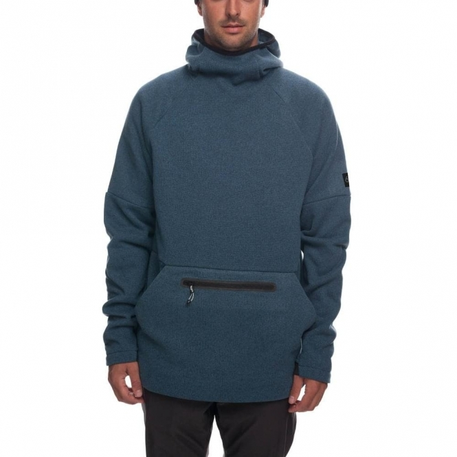 686 Knit Tech Fleece Hoody - Bluesteel