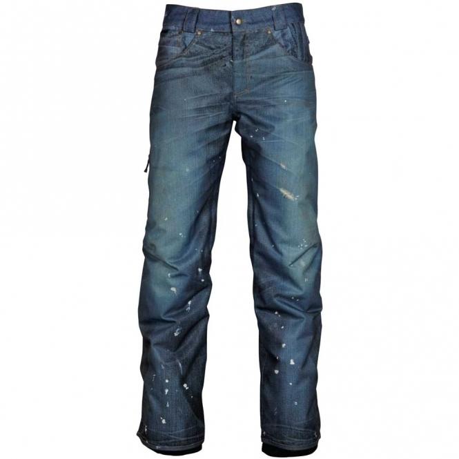 686 Mens Deconstructed Denim Jeans Snowboard Pants