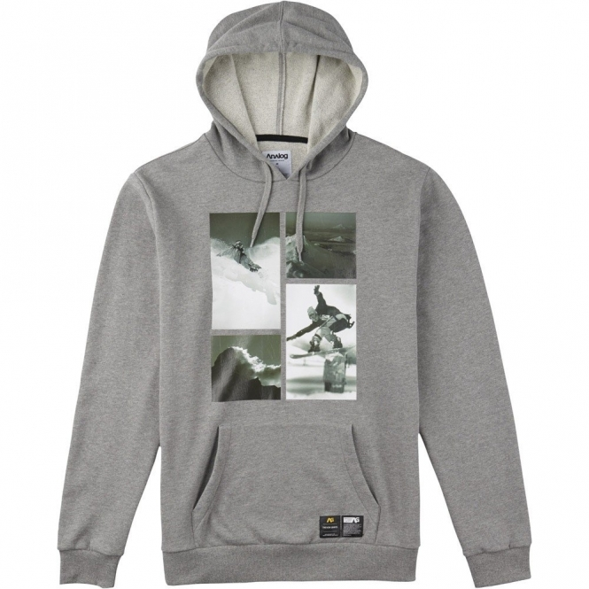 Analog PLA Hooded Pullover - Grey