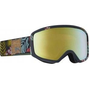 Deringer MFI Snowboard Goggles - 2017 Tiki / Gold Chrome