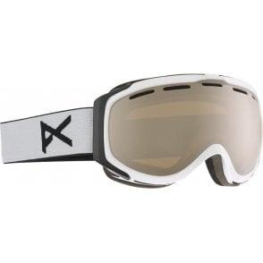 Hawkeye Goggles - White/Silver Amber