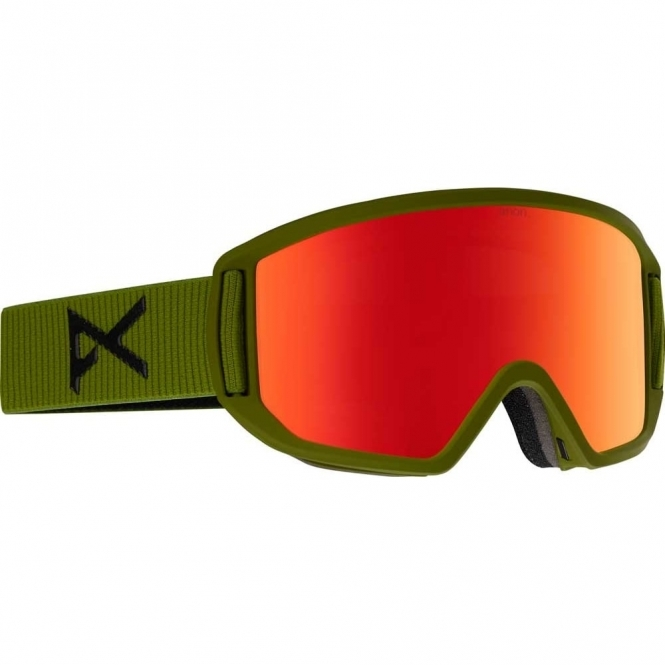 Anon Relapse Goggles - 2018 Bear Green / Red Solex