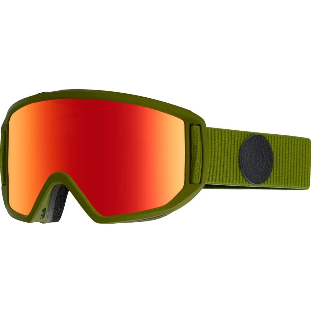 9a6f6e4dbe0 Anon Relapse Snowboard Goggles - 2018 Bear Green   Red Solex