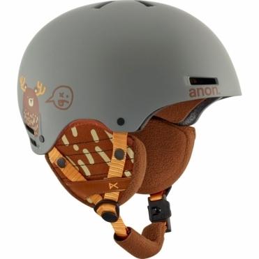 Rime Snowboard Helmet - Da Bearz Grey