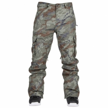 Bonfire Men's Tactical Snowboard Pants - Olive Camo