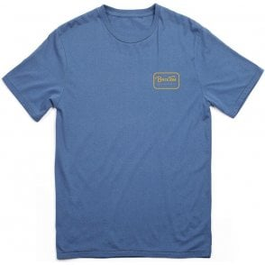 Brixton Grade Premium T-Shirt Washed Royal