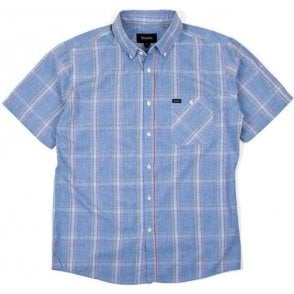 Brixton Howl SS Shirt Light Blue