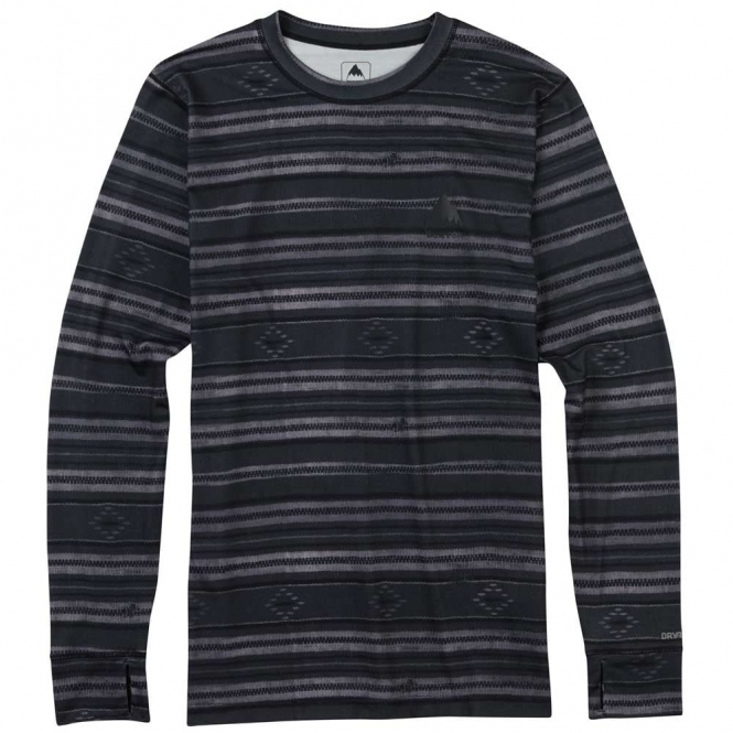 Burton Base Layer Midweight Crew - Faded Stage Stripe
