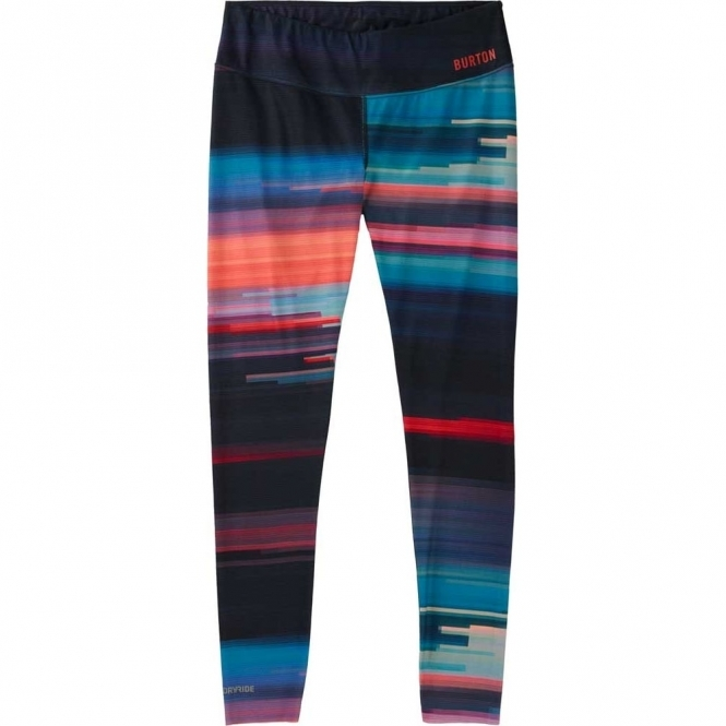 Burton Base Layer Womens Midweight Pant -  Coral Flynn Glitch