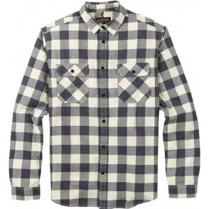 Burton Brighton Flannel Shirt - Canvas Heather Buffalo