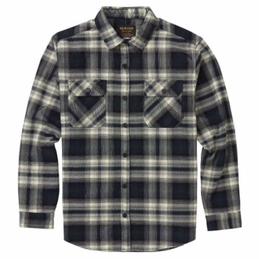 Burton Brighton Tech Flannel Shirt - True Black Lahombre