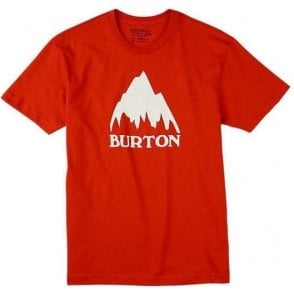 Classic Mountain T-Shirt - Fiery Red