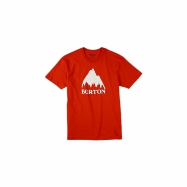 Classic Mountain T-Shirt - Fiery Red