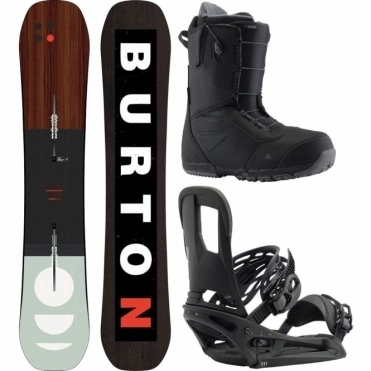 Burton Custom Flying V Snowboard Package 156