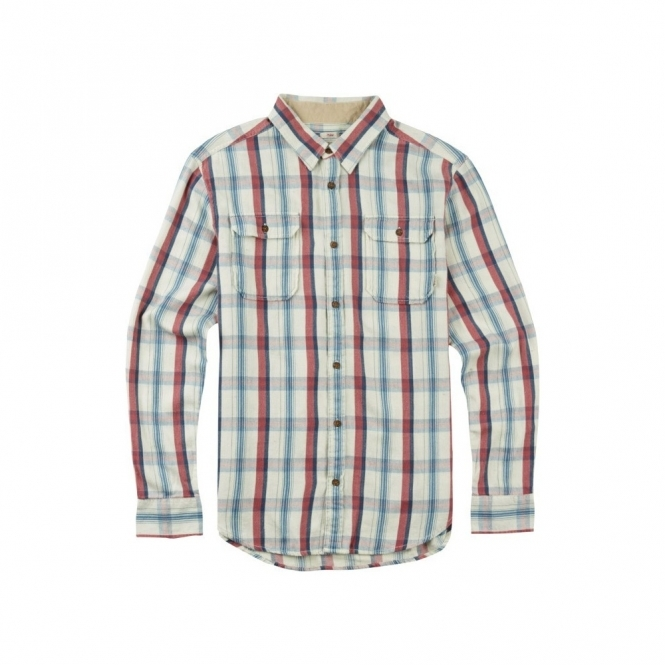 Burton Flannel Shirt - Vanilla Utica Plaid