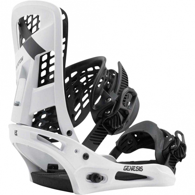 Burton Genesis Snowboard Bindings 2017 White Flag
