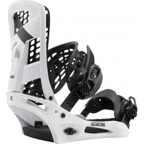 Genesis Snowboard Bindings 2017 White Flag