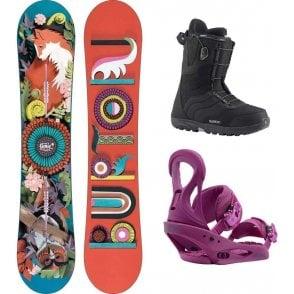 Burton Genie Snowboard Package 142