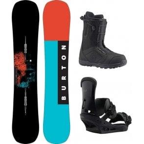 Burton Instigator Snowboard Package 160 Wide