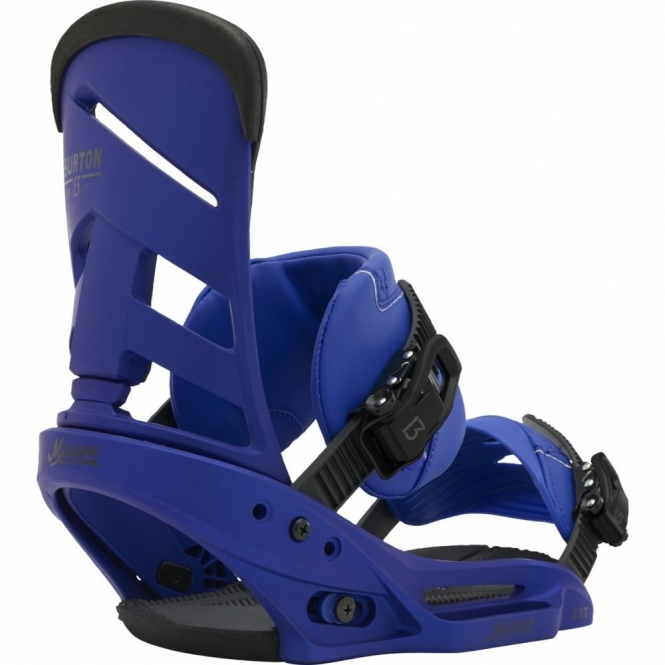 Burton Mission EST Snowboard Bindings - Deep Blue