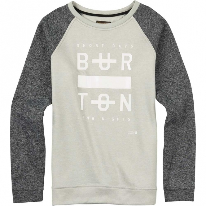 Burton Quartz Crew Pullover - Dove Heather