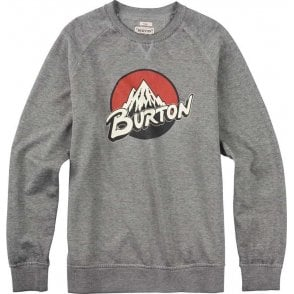 Retro Lockup Crew Pullover - Grey Heather