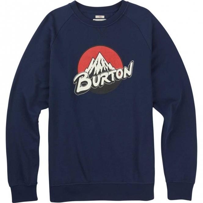 Burton Retro Lockup Crew Pullover - Indigo