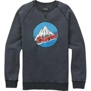 Retro Mountain Crew - True Black