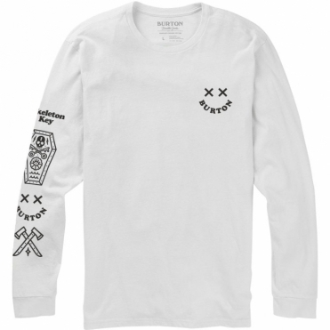 Burton Skeleton Key LS Tee - Stout White