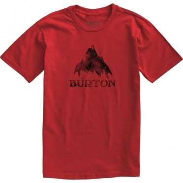 Stamped Mountain Short Sleeve T Shirt