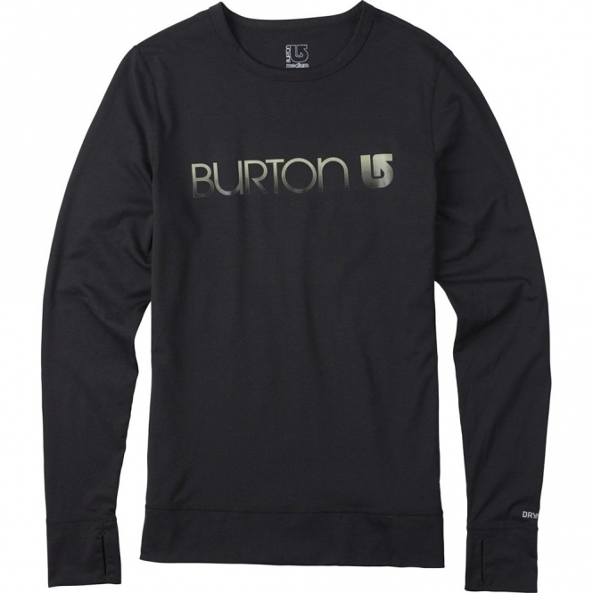 Burton Womens Base Layer Midweight Crew - Black
