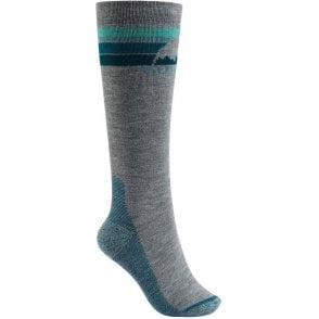 Burton Women's Emblem Socks - Grey Heather