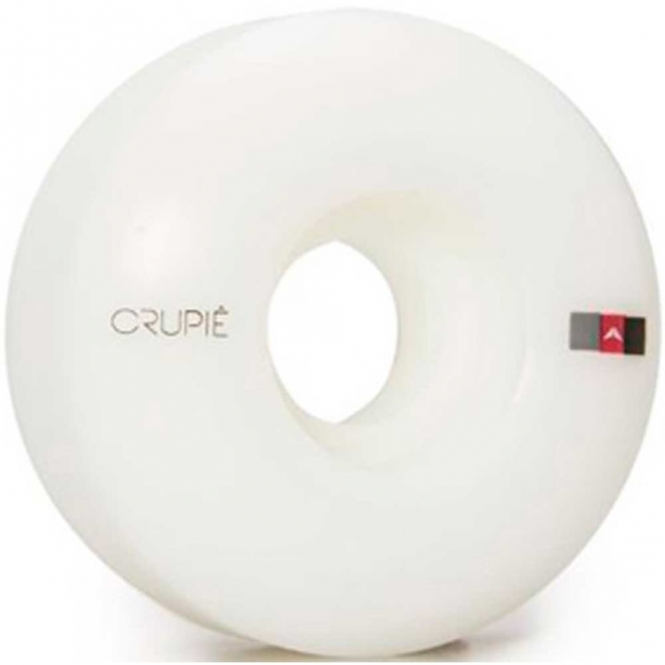 Crupiê Logo White Skateboard Wheels 50mm