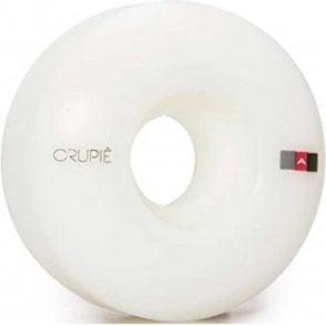 Logo White Skateboard Wheels 50mm