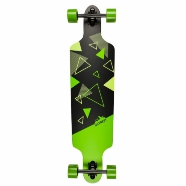 Polygon Tri Drop Thru Longboard - Green