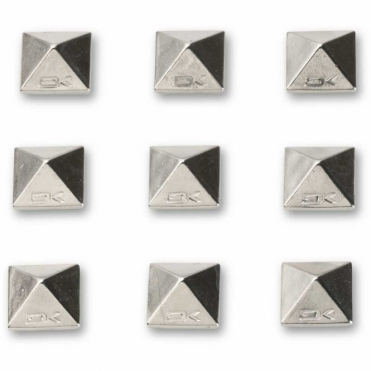 Pyramid Studs - Chrome