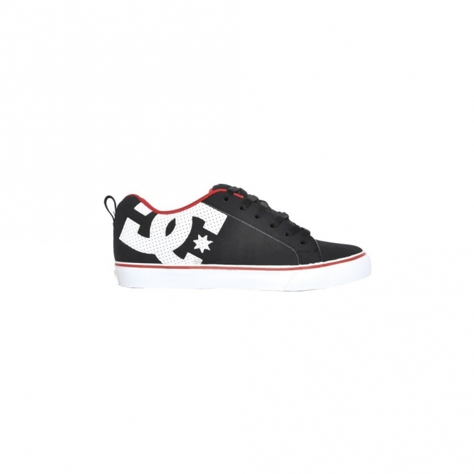 DC Court Vulc Shoes - Black/Rich Red