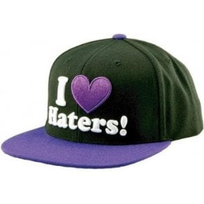 Haters Snapback Hat - Black/Purple