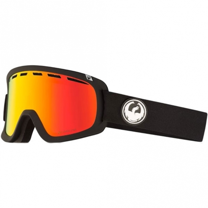 Dragon D1 Goggles - Black / LumaLens Red Ion
