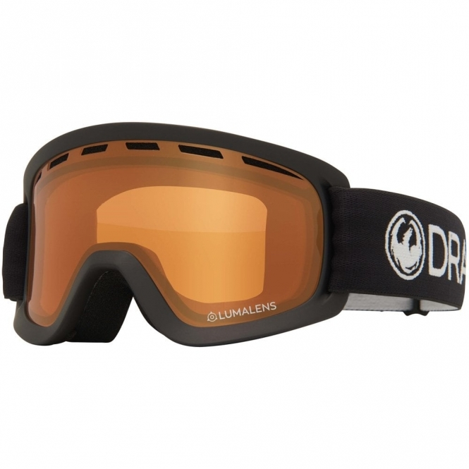 Dragon Lil D Youth Goggles - Black / LumaLens Amber