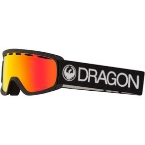 Dragon Lil D Youth Goggles - Black / LumaLens Red Ion