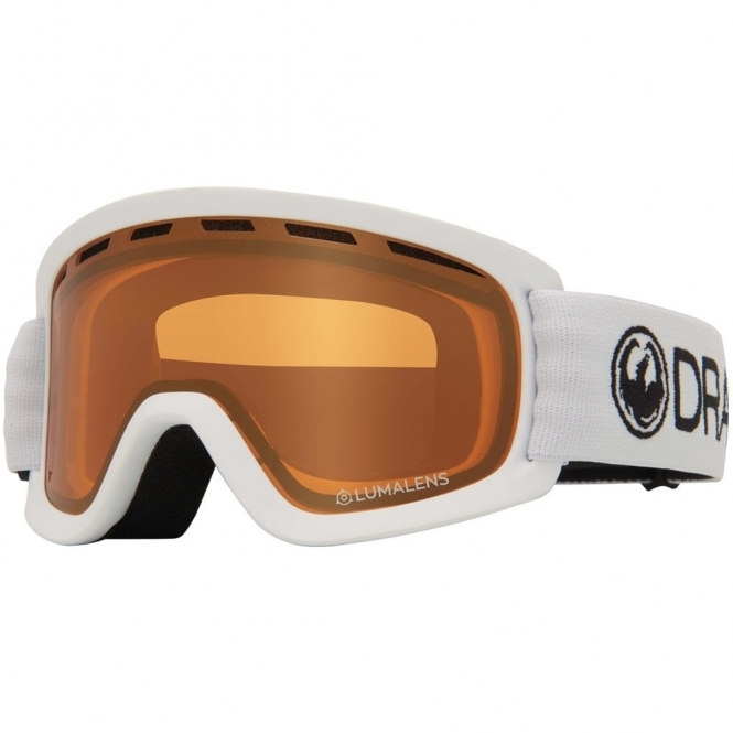 Dragon Lil D Youth Goggles - White / LumaLens Amber