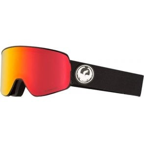 Dragon NFX2 Goggles - Black / LumaLens Red Ion