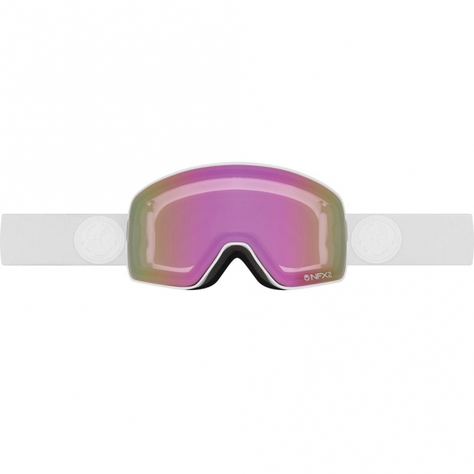 Dragon NFX2 Snowboard Goggles - 2017 Whiteout / Pink Ion
