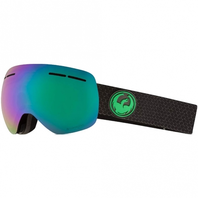 Dragon X1s Goggles - Split / LumaLens Green Ion