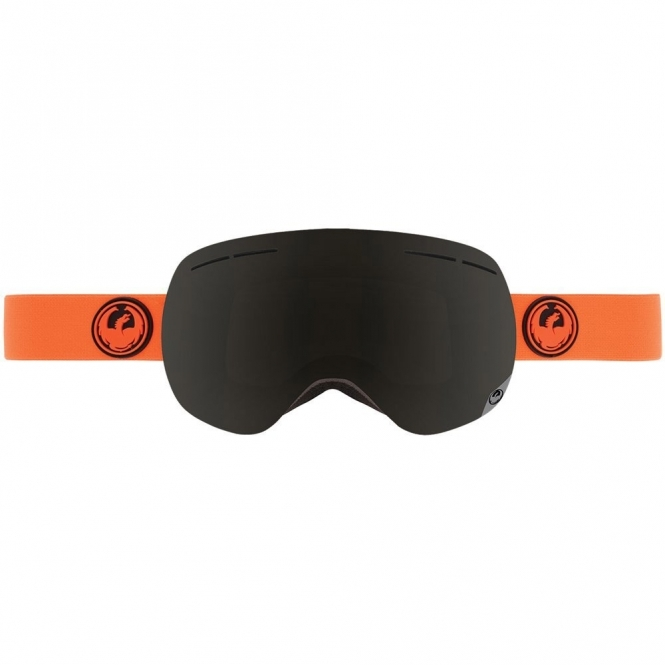 Dragon X1s Snowboard Goggles - Safety / Dark Smoke