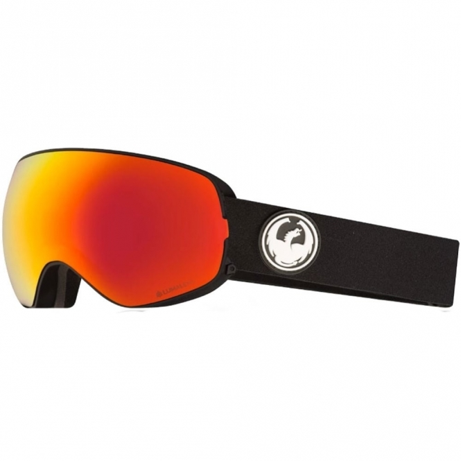 Dragon X2s Goggles - Black / LumaLens Red Ion