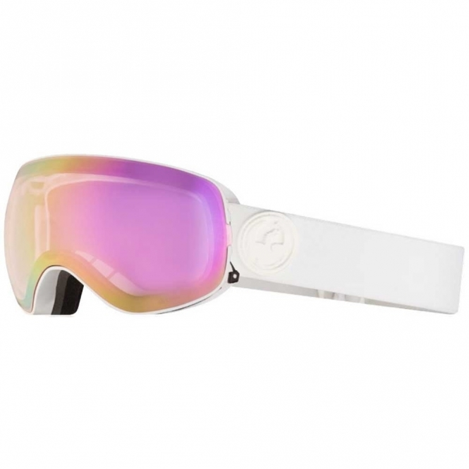 Dragon X2s Goggles - White Out/ LumaLens Pink Ion