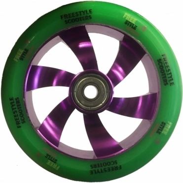 Freestyle Scooters Shredder Scooter Wheel - 110mm Purple/Green