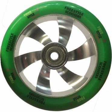 Shredder Scooter Wheel - 110mm Silver/Green